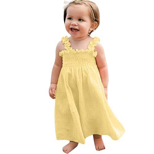 MAYOGO Bebe Niña Vestido Verano Chica Vestido Tirantes Una Pieza la Colmena Ropa para Fotos Bebe Niña Ropa Bebe Fiesta Traje de bebé Lindo Disfraz Hija 1-5 Años