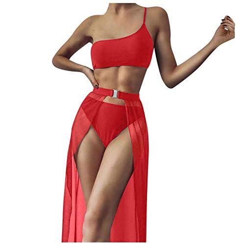 Damen Eine Schulter Triangel Bikini-Set...
