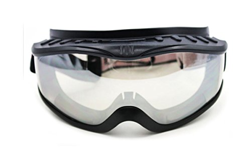 'Fit Over Glasses' Anti-fog Riding Goggles (Black Frame Clear Lens)