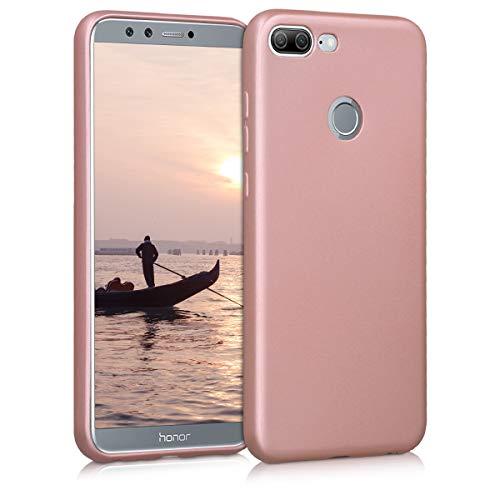 kwmobile Hülle kompatibel mit Huawei Honor 9 Lite - Handy Hülle Metallic Rosegold