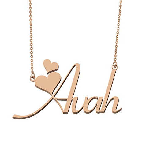 Aoloshow Customized Custom Name Necklace Personalized - Custom Made Avah Necklace Initial Monogrammed Gift for Womens Girls