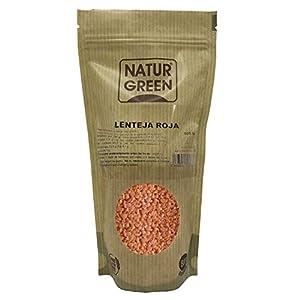 NaturGreen - Lentejas Rojas Bio, Agricultura Ecólogica, Sin Gluten, Sin Lactosa, Bajo Contenido en Sal, 500 G