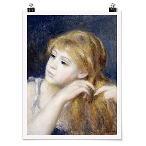 Bilderwelten Poster Wanddekoration Auguste Renoir - Kopf eines Mädchens Matt 60 x 45cm