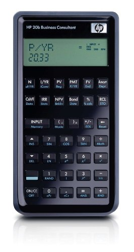 Hewlett Packard HP20b Finanzmathematischer Taschenrechner