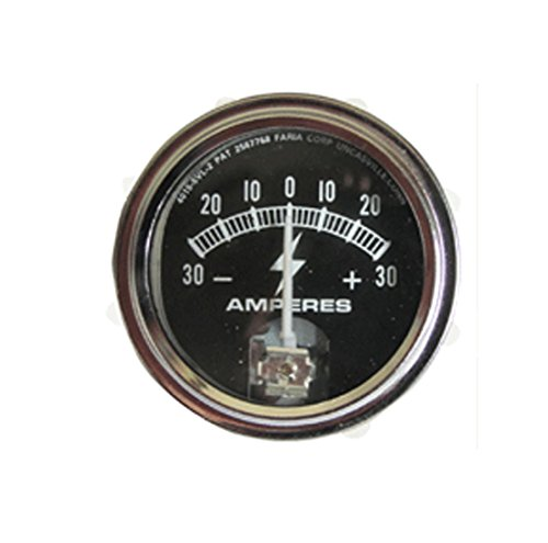 RTP Tractor Ammeter Gauge (30-0-30) with Chrome Ring
