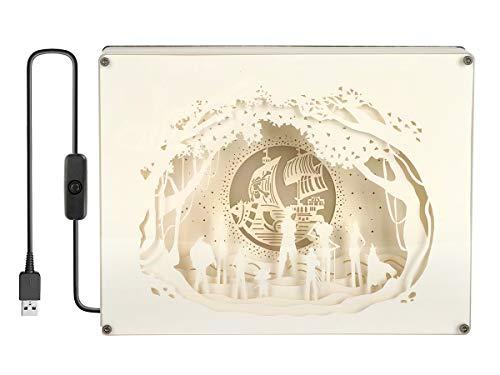 CoolChange One Piece Diorama Leuchtkasten mit Farbiger Beleuchtung, Motiv: Strohhutbande & Thousand Sunny