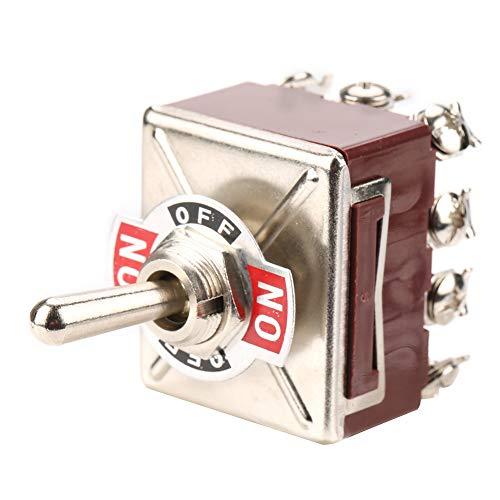 Control industrial Interruptor de palanca duradero de 12 pines y 3 posiciones Alta confiabilidad Orificio de montaje de 12 mm Interruptor de palanca ON/OFF/ON 4PDT para