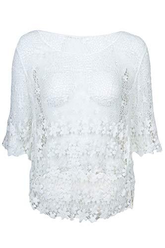 Häkel Shirt Pulli Damen Neu Baumwolle Italy Viele Farben 36 38 40 42