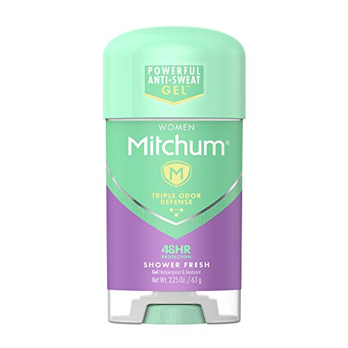 Mitchum Antiperspirant Deodorant Stick for Women, Triple Odor Defense Gel, 48 Hr Protection, Shower Fresh, 2.25 oz