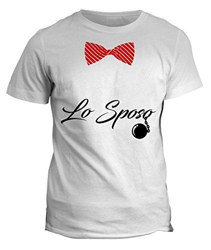 fashwork Tshirt Lo Sposo - Addio al Celibato - in Cotone by