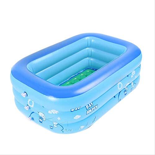 CZYSKY Piscina rectangular para remo, uso en el hogar Piscina cuadrada inflable piscina, piscina inflable de los niños 130x80x40cm