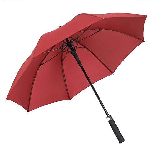 WWHS Colouration: Rotwein, Schlagfeste Regenfest Outsize Golf Regenschirm Geschäfts abgespult Pole Regenschirm Anti-UV-Regenschirm (Color : 75cm)