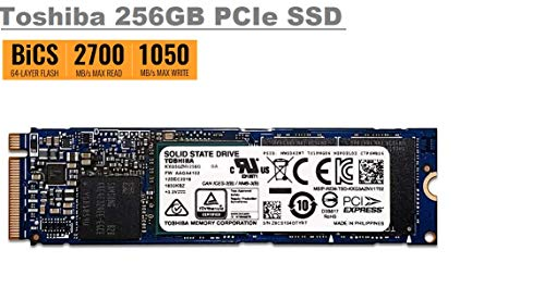 Toshiba 256GB XG5 OEM High speed Single-Sided 80mm (2280-S2-M) PCI Express 3.1 x4 (PCIe Gen3 x4) NVMe M.2 Internal SSD Solid State Drive, High Speed up to 2700 MB/s Read, 1050 MB/s Write (OEM Packing)