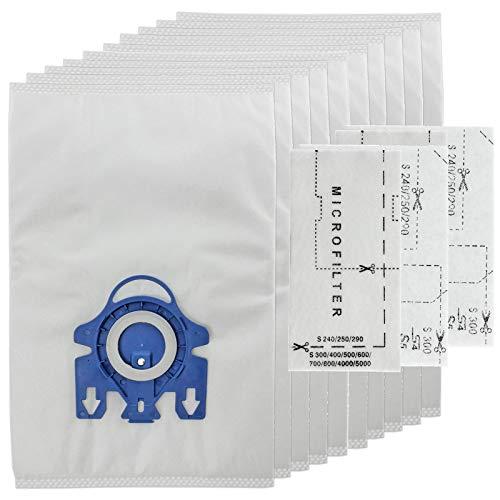 Spares2go 3D Type GN Hyclean Tassen voor Miele Stofzuiger (10 Tassen + Micro Air Filters)