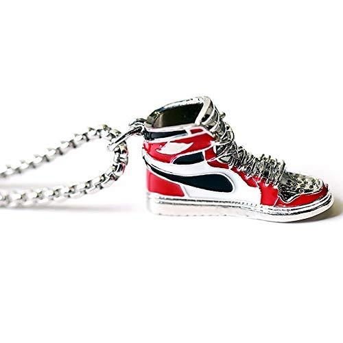 Halskette Damen Schöne Halskette Rote Ballschuhe Gezeiten Coole Basketballschuhe Anhänger Hängende Schuhe Modell