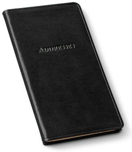 Gallery Leather Pocket Address Organizer Acadia Black