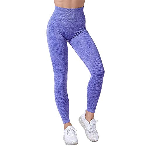 WWLIN Leggings sin Costuras de Cintura Alta Leggins Push Up Deporte Mujer Fitness Running Yoga Pantalones Energy Leggings sin Costuras Gym Girl Leggins