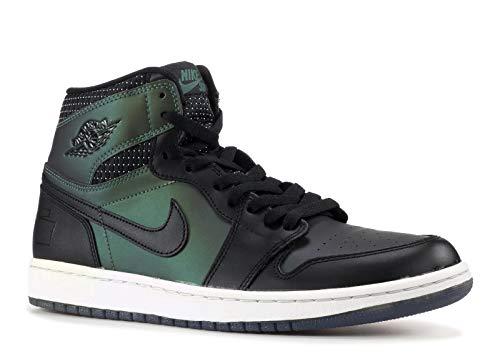 Nike Mens Jordan 1 SB QS Black/Black-Silver Leather Skateboarding Size 8.5