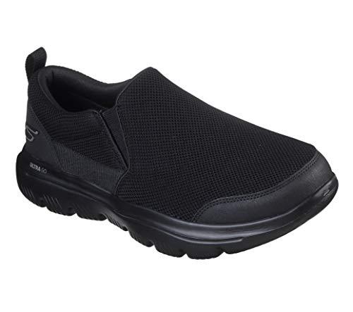 Skechers Men's Go Evolution Ultra Splinter-Performance Walking Shoe Sneaker, Black, 7.5 4E US