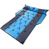 Yokbeer Colchón de Aire Atmosférico de Gama Alta para Coche, Saco de Dormir para Maletero, Alfombrilla de Escape para Coche, Colchón de Aire para Coche, Cojín de Viaje para Coche (Color : Blue-Gray)