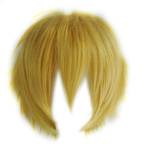 Aicos Women's Basic Short Hair Wig/Wigs Cosplay Party+Wig Cap One Size Golden Yellow - http://coolthings.us