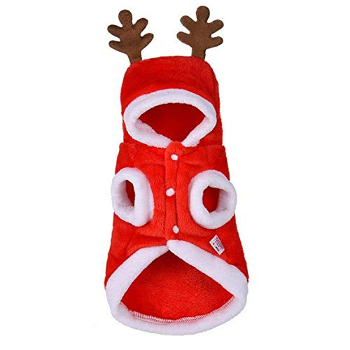 ZHTY Ropa para Perros, Disfraz de Pet de Navidad, Ciervos de Navidad para Mascotas, Accesorios para Mascotas, XS Song