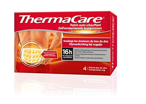 ThermaCare Wärmepflaster bei Schmerzen im unteren Rückenbereich – 8 Stunden konstante Wärme – Box mit 4Rückenpflastern
