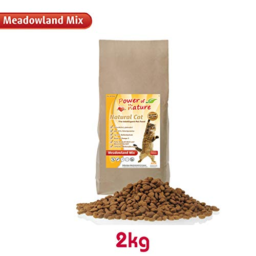 Power of Nature 2 kg Natural Cat Meadowland Mix Katzenfutter Trockenfutter Huhn Lachs getreidefrei glutenfrei