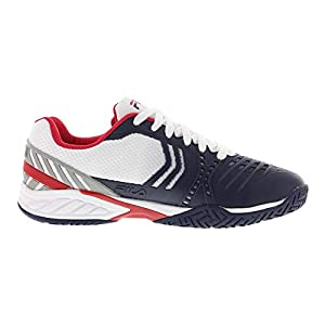 FILA Men's Axilus 2 Energized Tennis Shoe (White/FILA Navy/FILA Red, 11)