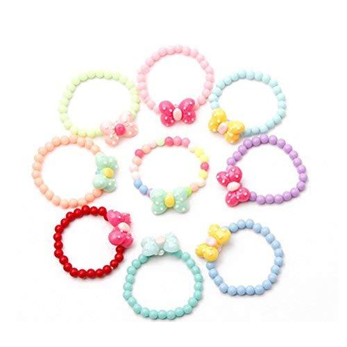 TOYMYTOY Braccialetto farfalla con perline Set Braccialetto per bambini con bimba Party Pretend Play Bracelet, 6 Pz