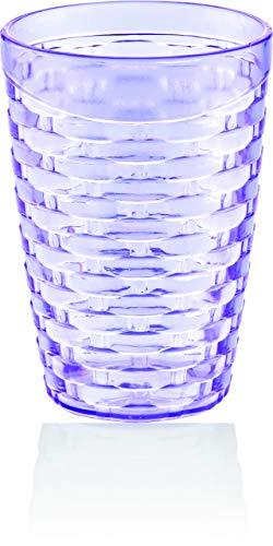 BAGER 24er Set(lila, pink & gelb) 430ml Partybecher Trinkbecher Cocktailbecher Plastikbecher Becher Mehrweg
