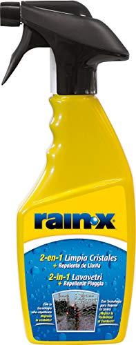 Rain-X 26041 - 2 en 1 Limpiacristales y Anti-lluvia, Fabricado en España, Parabrisas, Lunas, Mampara, Espejos, 500ml