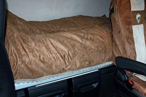 Adomo LKW Gesteppte Tagesdecke, Bettdecke in braun-beige