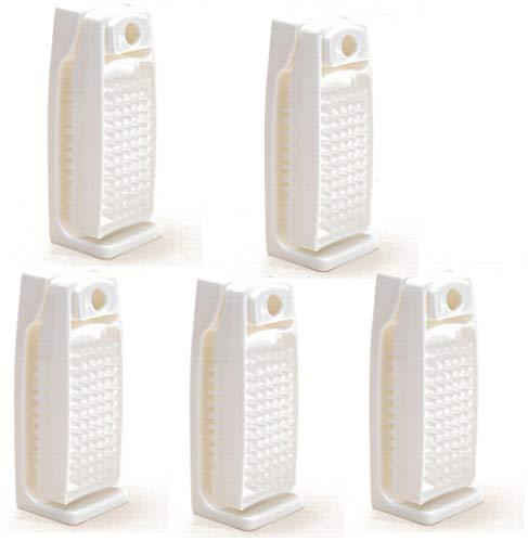 BawiTec 5er-Set Nagelbürste Handbürste weiß mit Konsole Halterung Kunststoff