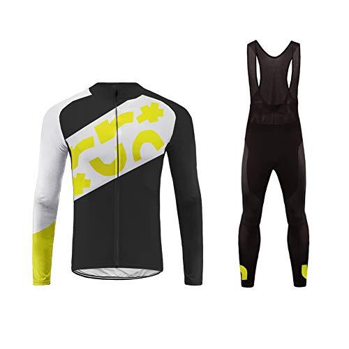 Future Sports UGLYFROG Jersey de Ciclismo de Visibilidad Extrema, de Manga Larga, Ajuste Slim Fit, Camiseta de MTB Winter Fleece Ropa Hombre Top