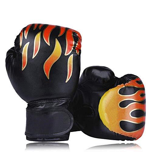 Guantes de Boxeo para Niños de 3 a 11 Años de Edad Guantes de Entrenamiento de Kickboxing Estilo Llama para Niños, Niñas, Jóvenes, Niños Pequeños,Black