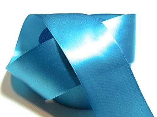 CaPiSo 22m Satinband 50mm Breite Schleifenband Geschenkband Dekoband Weihnachten Hochzeit (Hellblau, 22m)