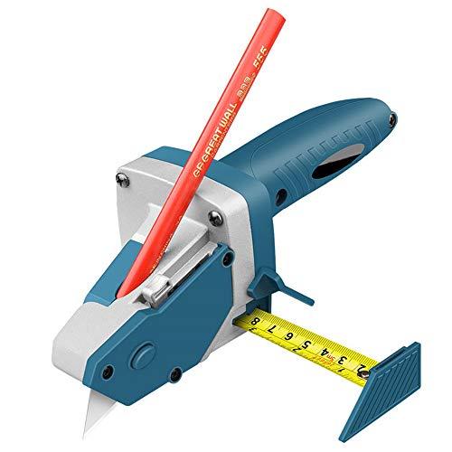 Gipskarton-Schneidewerkzeug, Trockenbauputz mit Skala Scribe Holzbearbeitung Schneidebrett Werkzeuge All-in-One Handwerkzeug mit Maßband für Holzbearbeitung