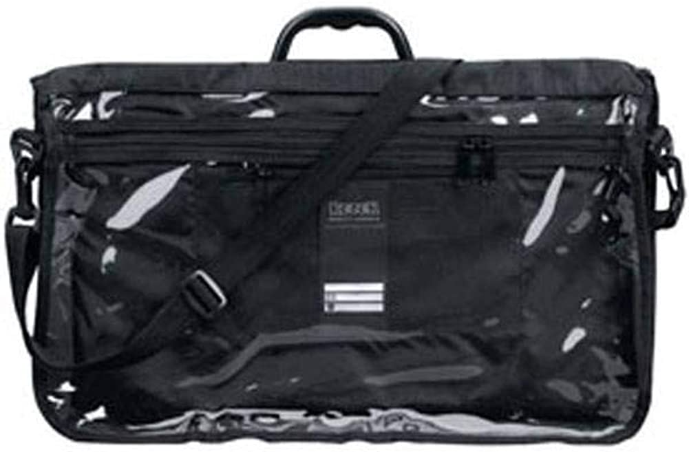 Chabbad Tefillin Tote Bag Rain Proof Black with Carry Handle Clear Front in Size Large 18