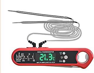 LTXDJ Thermomètre pour aliments avec deux sondes, testeur de viande de haute précision, écran LCD numérique, convient pour...