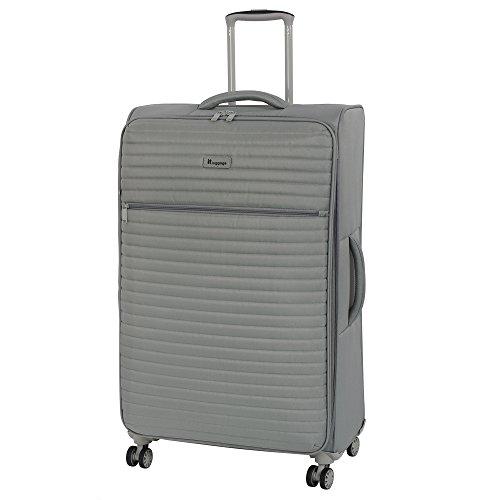 it luggage Quilte 8 Wheel Lightweight Semi Expander Large Suitcase, 80 cm, 125 L, Flint Grey