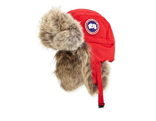 Canada Goose Women's Aviator Hat (L/XL, Red)