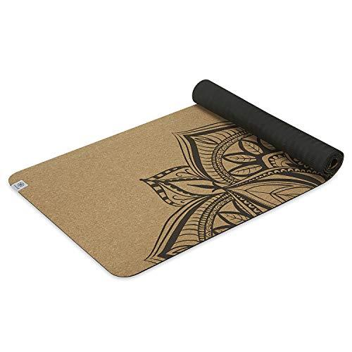 Gaiam Cork Yoga Mat | Print Design Natural Sustainable Cork Resists...