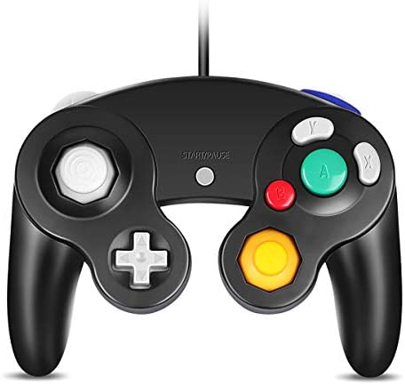 VOYEE GC Controller Compatible with Wired USB Gamecube Controller for PC Windows 7 8 10 Black product image