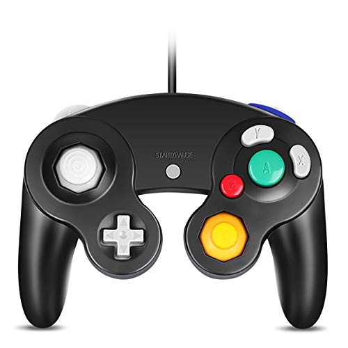 VOYEE GC Controller, Replacement for Gamecube Controller, Compatible with Wired USB Gamecube Controller/PC Windows 7 8 10 (Black)