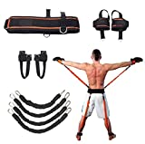 Sunsign Speed and Agility Resistance Bands Trainer for Vertical Jump Squat Boxing MMA Taekwondo Karate Bounce Softball Baseball Basketball Volleyball Football Training(Black)