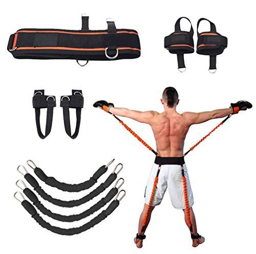 Sunsign Set di Esercizi con Fascia da 9 Pezzi per Braccia e Gambe Allenamento con Fascia per Esercizi di Fisioterapia e Pallacanestro Allenamento di Kick Boxing Impilabile Fino a 160 Libbre (Black)