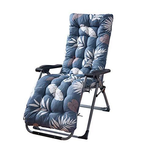 N /A Coussin de chaise longue de rechange avec housse supérieure antidérapante pour jardin, terrasse, chaise inclinable (couleur : bleu, taille : 170 x 53 x 8 cm), bleu, 170*53*8CM