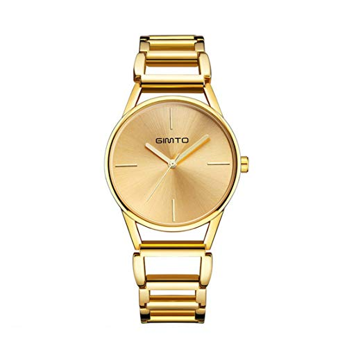 HIOD Mujeres Negocio Muñeca Relojes Inoxidable Acero Impermeable Reloj Cuarzo Movimiento Negocio Ocio Moda Sra Vestido Reloj
