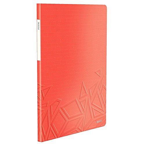 Preisvergleich Produktbild Leitz,  A4 Sichtbuch,  20 Klarsichthüllen,  Für 40 Blatt,  Transparente Hüllen,  Matt,  Rot,  Urban Chic
